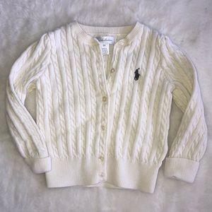 Ralph Lauren ivory sweater 18 months